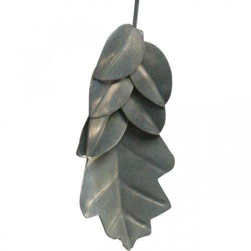 Foglie in metallo da appendere foglie autunnali grigio antico 7,5-10 cm 4 pezzi