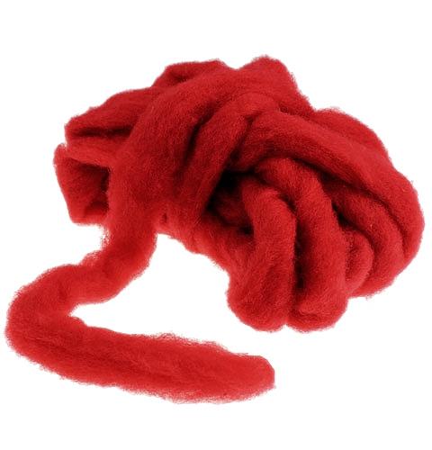 Miccia in lana 10m rosso scuro