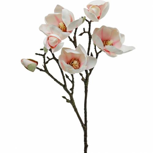 Magnolia ramo rosa fiori di seta magnolia artificiale