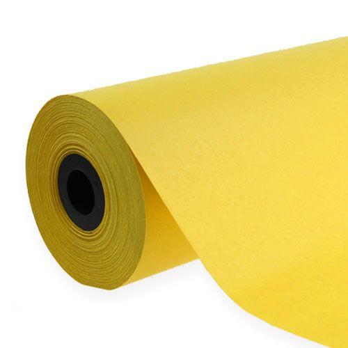Polsino in carta 37,5 cm 100 m giallo