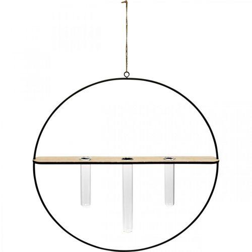 Anello decorativo da appendere con occhiali in metallo nero Ø35cm