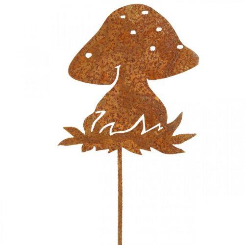 Tappo in metallo fungo fungo decorazione autunnale decorazione fungo patina 42cm