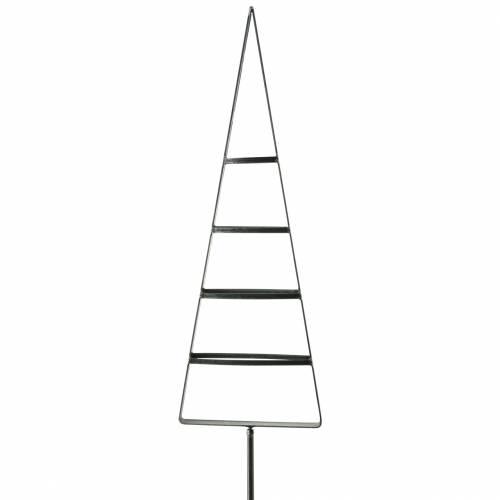 Spina in metallo abete 58 cm grigio