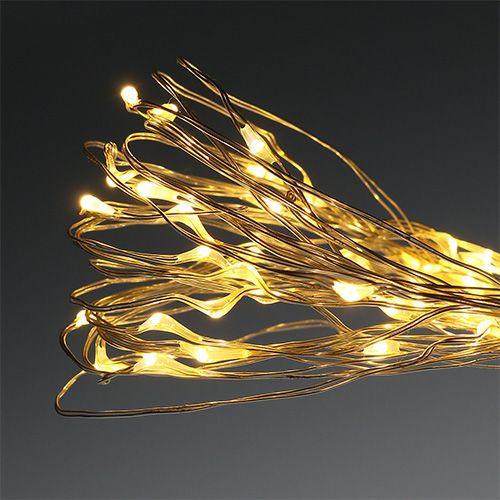 Micro catena luminosa LED esterno / interno 120 bianco caldo