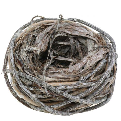 Nido di Pasqua di ramoscelli Naturale, lavato bianco Ø13cm 3 pezzi