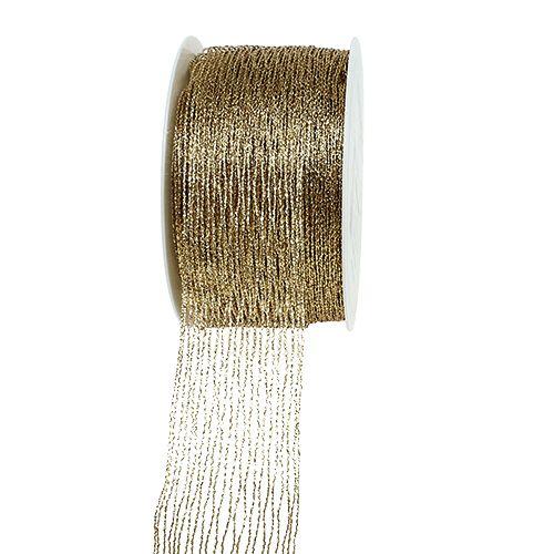 Nastro a rete oro rinforzato con filo 40mm 15m