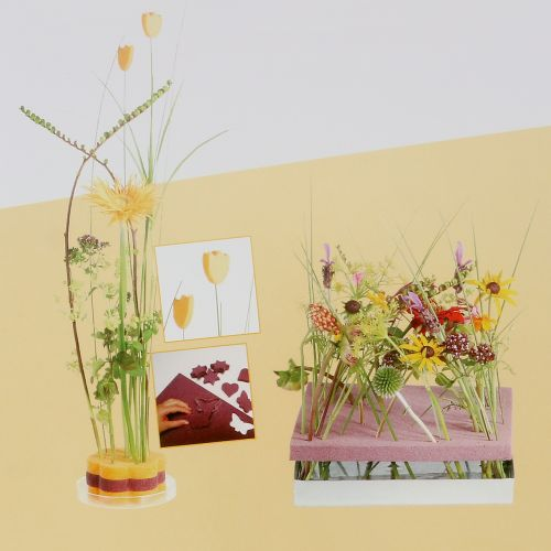 Pannelli di design in schiuma floreale dimensioni plug-in rosa antico 34,5 cm × 34,5 cm 3 pezzi