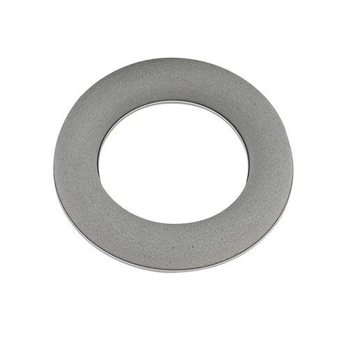 Ghirlanda di anelli in schiuma floreale grigia H3cm Ø20cm 6 pezzi