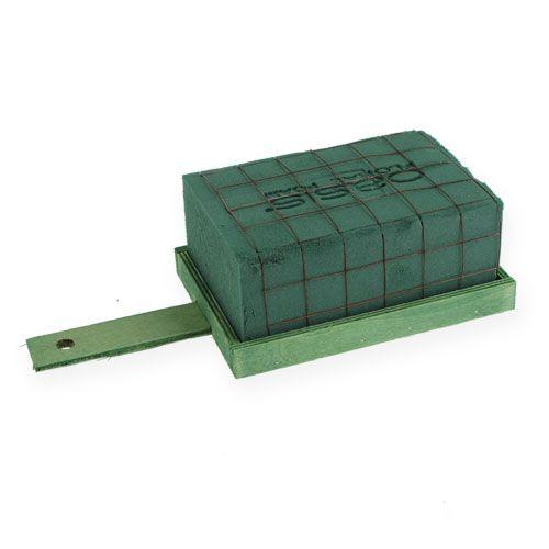 Sottofondo di disposizione 4 pezzi in legno di metallo verde mattone schiuma floreale