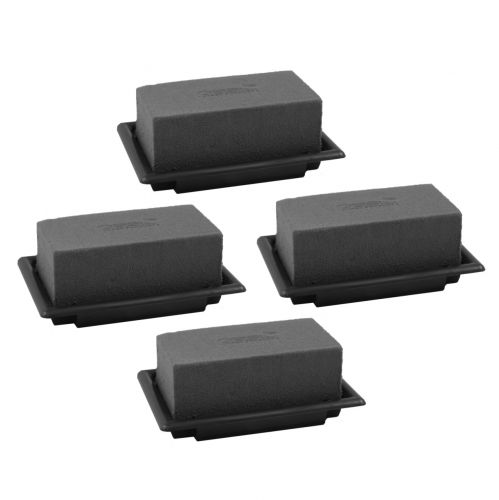 OASIS® Black Table Deco Mini Floral Foam Nero 4 pezzi