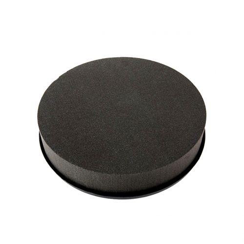 Cilindro in schiuma floreale nero nero Ø15cm H5cm 2 pezzi
