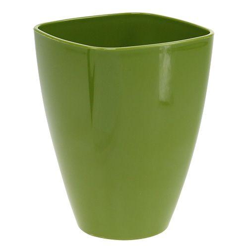 Vaso per orchidee lucido Ø12,5cm verde oliva, 1pce