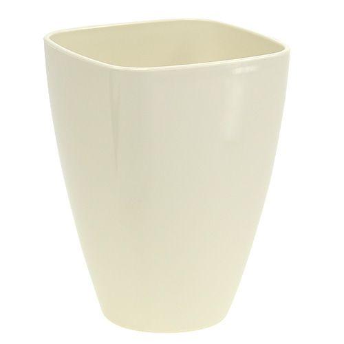 Vaso per orchidee lucido Ø12,5cm sabbia, 1pce