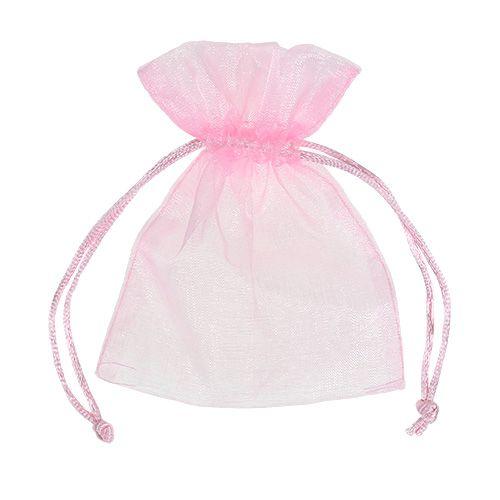 Sacchetto organza rosa 12x9cm 10 pezzi
