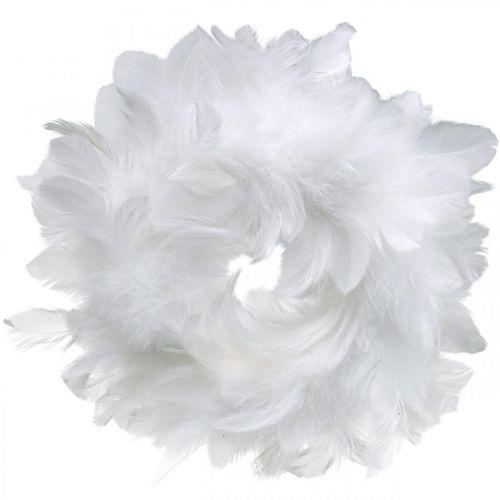 Decorazione di Pasqua ghirlanda primaverile bianca Ø18cm decorazione primaverile