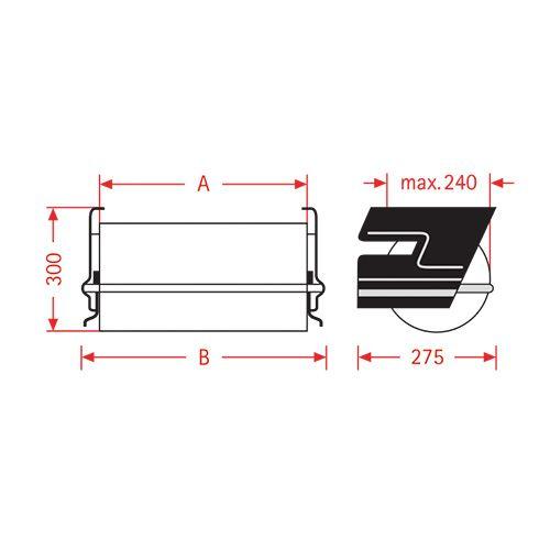 Dispenser sottopiano in carta stagnola ZAC 50cm