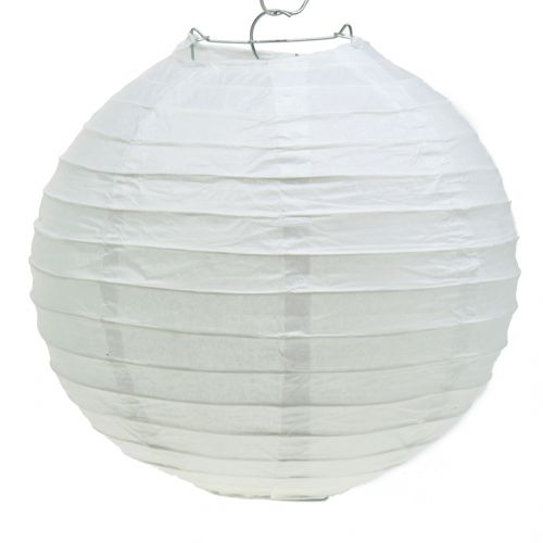 Lanterna di carta bianca Ø30cm