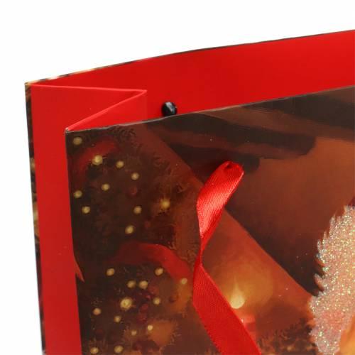 Set di sacchetti regalo motivo natalizio rosso Babbo Natale 20 cm × 30 cm × 8 cm
