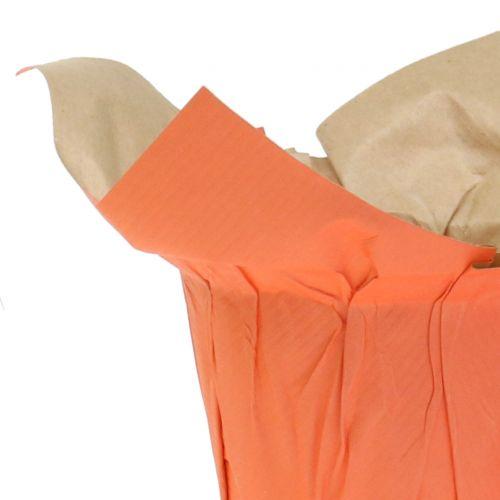 Vasi di carta verde, arancione, giallo Ø8cm 12 pezzi