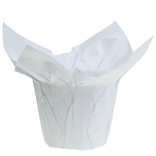 Vasi di carta bianchi Ø10cm 12 pezzi