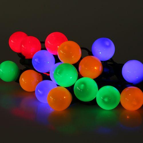 Fiabe da festa colorate per 20 LED esterni 9,5 m