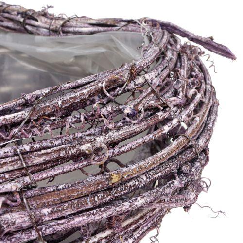 Cuore di pianta di vite mora bianco lavato 27 cm x 24 cm