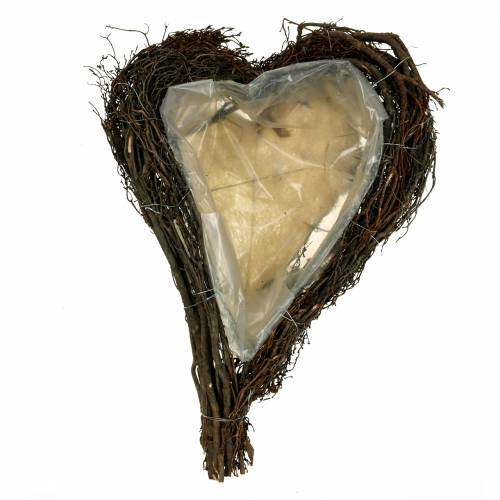 Pianta cuore rami natura 40 cm x 30 cm