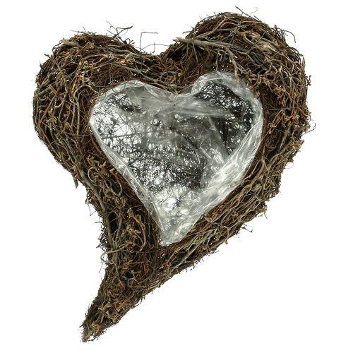 Pianta cuore dalla vite 30 cm x 40 cm x 7,5 cm natura