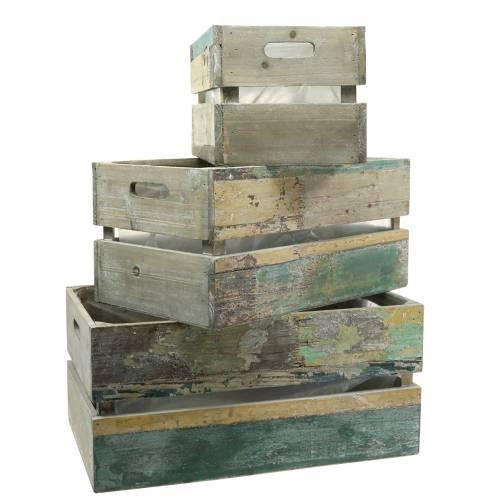 Fioriera scatola di legno 45/39 / 34,5cm 3 pezzi