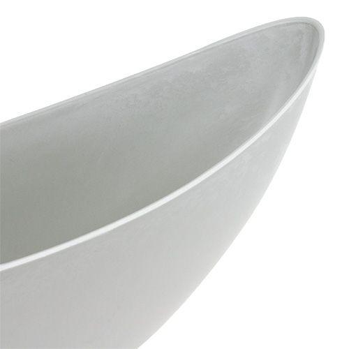 Fioriera 39cm x 12,5cm H13cm grigio chiaro, 1pz