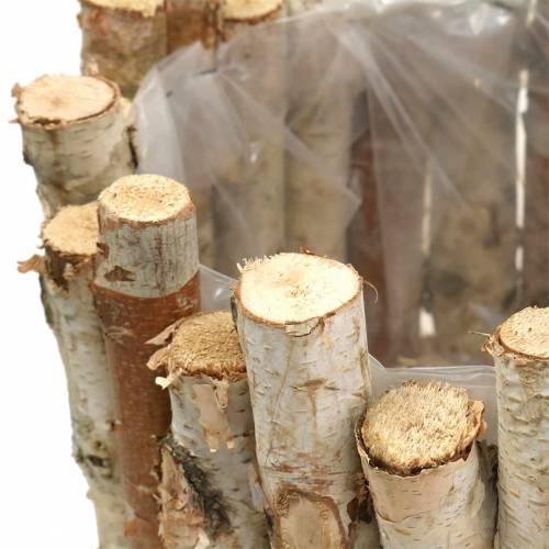 Vaso rotondo in betulla Ø22 / 30cm, set di 2