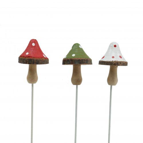 Funghi in legno da incollare assortiti 4cm 12 pezzi