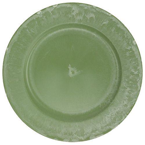 Place plate Verde Ø25cm