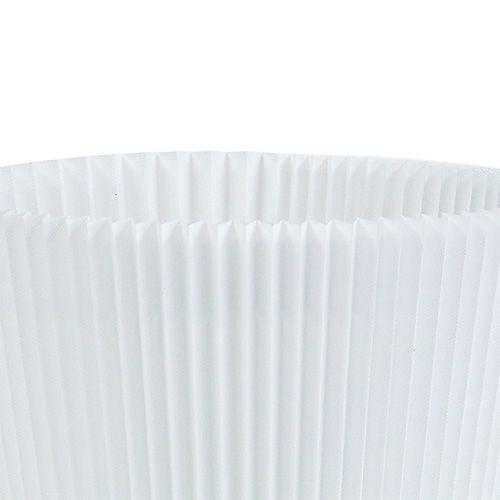 Polsini plissettati bianchi 10,5 cm 100 pezzi