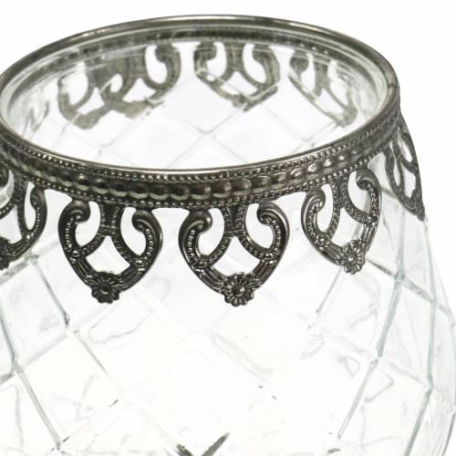 Luce vetro vento tazza antico Ø13cm H18,5cm