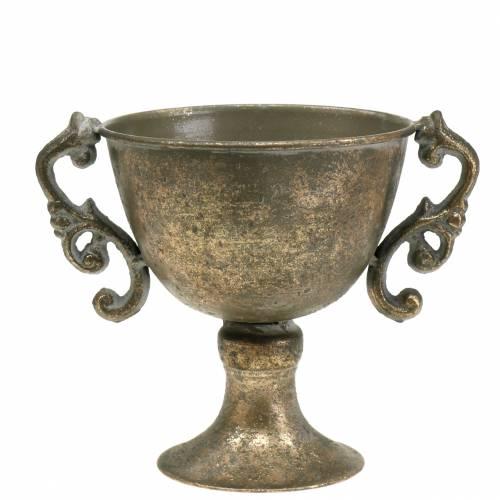 Coppa in metallo oro antico Ø14cm H16cm
