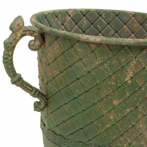 Calice in metallo per piantare, calice con manici, fioriera Ø25cm H43cm