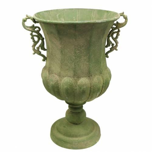 Tazza verde aspetto antico Ø34cm H55cm