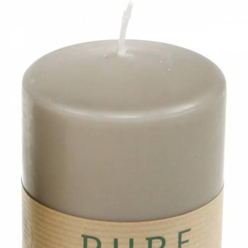 Candela a colonna pura marrone 90/70 candela stearina sostenibile e cera naturale di colza