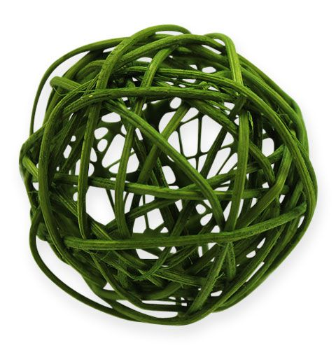 Palline in rattan Ø4,5cm verdi assortite 30pz