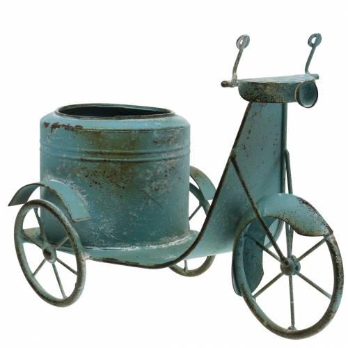 Scooter per fiori in metallo blu ruggine 33cm