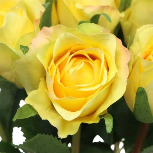 Rosa gialla 42 cm 12 pezzi