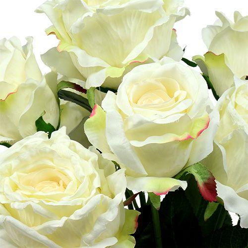 Bouquet di rose bianche, crema 55 cm