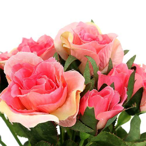 Bouquet di rose in rosa L26cm 3 pezzi
