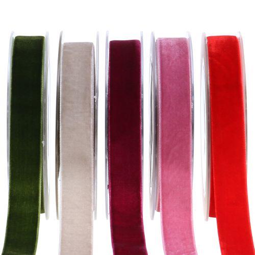 Nastro di velluto di diversi colori 20mm 10m