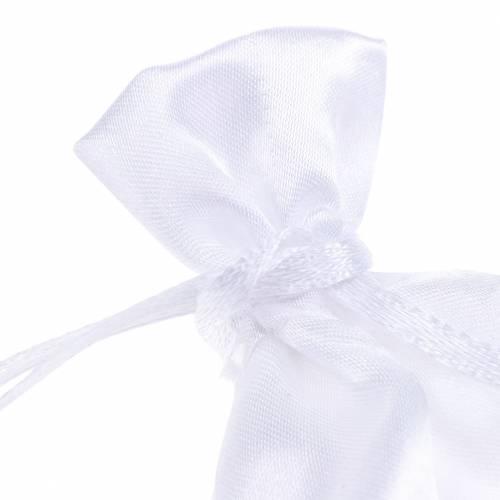 Sacchetti di raso bianco 6,5 × 10 cm 10 pezzi