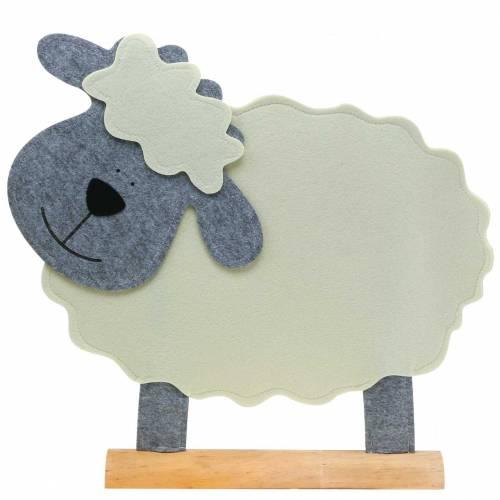 Feltro in piedi color crema, grigio 51 × 7 cm H47cm