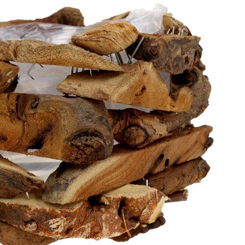 Pezzi di conchiglia di legno natura Ø28cm H16cm
