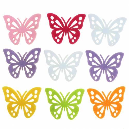 Decorazione tavolo farfalla in feltro Assortito 3,5 × 4,5 cm 54 pezzi Colori diversi