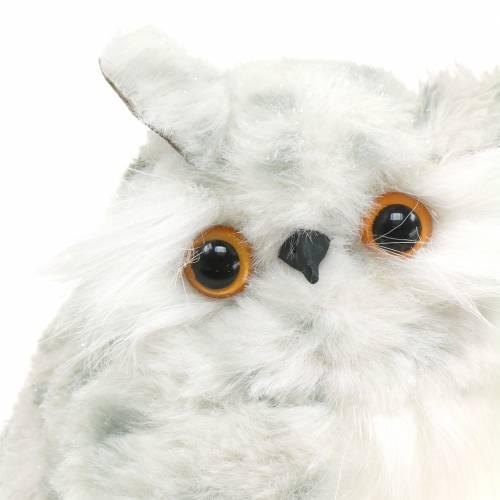 Snow Owls White 15cm 2 pezzi